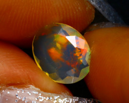 Welo Opal 1.02Ct Natural Ethiopian Play of Color Opal D2033/A3