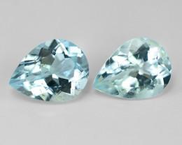 2.85 Cts. Un Heated  Sky Blue Color Natural Aquamarine Loose Gemstone