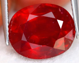 Red Ruby 7.78Ct Oval Cut Natural Pinky Red Ruby A1606