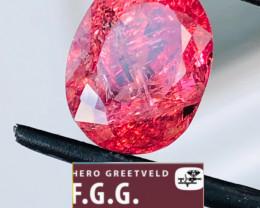 GGA-6.33 CT Rubellite RAVISHING RUTILATED!! -FULL SPARLING  . FROM COLLECTO