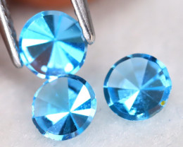 Swiss Topaz 1.17Ct VS2 Round Cut Natural Swiss Blue Topaz Lot A1615