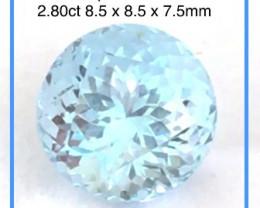 Quality Pretty Blue 2.8ct Aquamarine, Indian Ref 2301