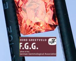 GGA- 4.1CT - TOURMALINE like rubellite  -PERFECT SIZE FOR JEWELLERY VERY CH