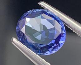 Certified Natural Sapphire 1.35 Cts Cornflower Blue Srilanka VVS