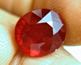 7.91 Carat Fiery Cherry Ruby - Gorgeous