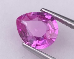Certified Pink Sapphire 1.37 Cts Vivid Pink Color Top Quality and Luster