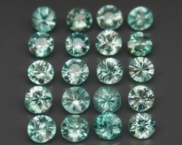 7.96 Ct. 100% Natural Earth Mined Rich Seafoam Blue Zircon Cambodia - 20 ps