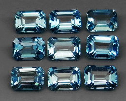 11.34 ct.100% Natural Earth Mined Top Quality Blue Topaz Brazil