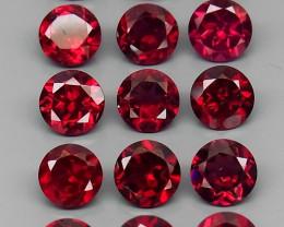 9.19  ct.  5.0 mm 100% Natural Earth Mined   Pink  Rhodolite Garnet Africa