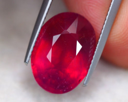 9.83ct Blood Red Color Ruby Oval Cut Lot P346