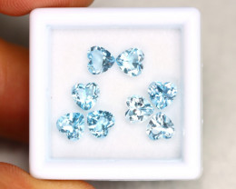 Sky Topaz 4.24Ct Calibrated Heart 5x5mm Natural Blue Topaz Lot C1707