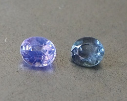 0.95ct unheated sapphires