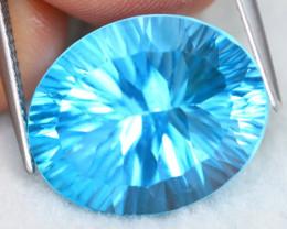 Swiss Topaz 17.65Ct VVS Millennium Cut Natural Swiss Blue Topaz A1710