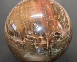 Sphère - Bois Fossile avec quartz 4,6 Kg - Madagascar
