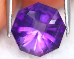 Uruguay Amethyst 2.68Ct VVS Master Cut Natural Violet Amethyst B1708
