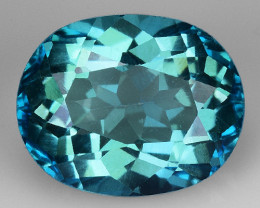 3.46 Ct Green Topaz  Top Luster Gemstone. GT1