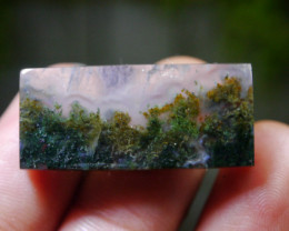 35.55 CT UNTREATED Beautiful Indonesian Moss Agate Picture