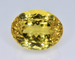 15.49 Crt Natural Citrine Faceted Gemstone.( AB 75)