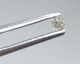 0.08ct Light Brown  Diamond , 100% Natural Untreated
