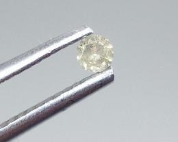 0.09ct Light Green  Diamond , 100% Natural Untreated