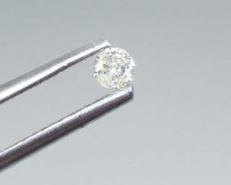 0.14ct  White Diamond , 100% Natural Untreated