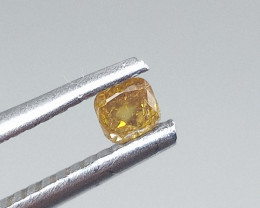 0.185ct Fancy yellowish Orange  Diamond , 100% Natural Untreated