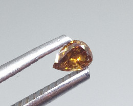 0.14ct Fancy Deep Brownish Orange  Diamond , 100% Natural Untreated