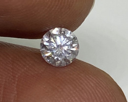 (4) Certified Nat  $1154 Fiery 0.50cts SI1 White Round Brilliant  Diamond