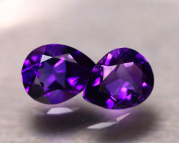 Amethyst 2.80Ct 2Pcs Natural Uruguay VVS Electric Purple Amethyst E2105/A50