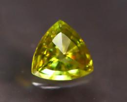 Sphene 1.19Ct Trillion Cut Natural Rainbow Flash Green Sphene E2117/A51