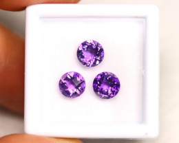 Purple Amethyst 2.47Ct Calibrated Pixalated 6mm Natural Amethyst Lot A1806