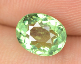 1.64 Cts Un Heated Natural Green Apatite Loose Gemstone