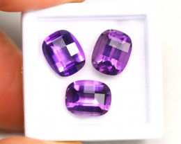 Amethyst 7.69Ct Calibrated Pixalated 10x8mm Natural Amethyst Lot A1801