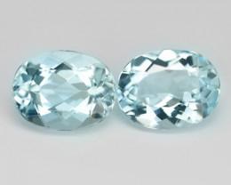 3.60 Cts 2 pcs Un Heated  Sky Blue Color Natural Aquamarine Loose Gemstone