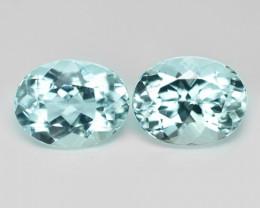 3.71 Cts 2 pcs Un Heated  Sky Blue Color Natural Aquamarine Loose Gemstone