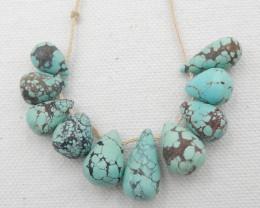 48.5CTS Natural Turquoise Strand ,Handmade Gemstone ,Turquoise Stone G652