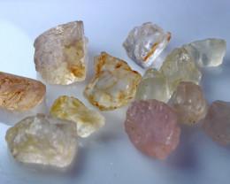 92.70 CT Natural & Unheated Pink Morganite Rough Lot