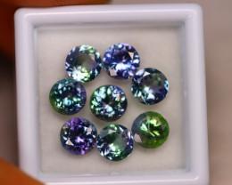 6.63ct Natural Violet Blue Tanzanite Round Cut Lot E58