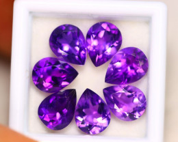 11.84ct Natural Purple Amethyst Pear Cut Lot E55