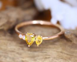 14K Rose Gold Authentic Fancy Diamond Engagement Ring GR10