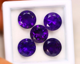 8.93ct Natural Purple Amethyst Round Cut Lot E47