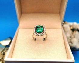 2,17ct Colombian Emerald 18k Solid Gold Ring Colombian Emerald Colombian Em