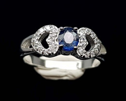 15.85CT NATURAL SAPPHIRE 925 SILVER RING IGCSR09