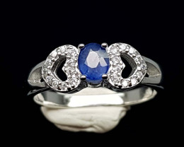 15.85CT NATURAL SAPPHIRE 925 SILVER RING IGCSR10