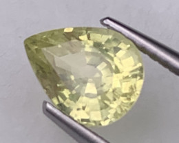 Certified Sapphire Natural 1.53 Cts Canary Yellow Unheated/Untreated