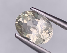 Certified Sapphire Natural 1.70 Cts White Yellow Unheated/Untreated