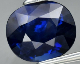 IGI CERTIFICATE Incl.*1.74ct 7.6x6.5mm Cushion Natural Deep Blue Sapphire A