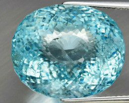Big! 23.40 ct 100%   Natural Earth Mined  Unheated Greenish Blue  Aquamarin