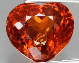 4.21 ct  Heart 100% Natural Earth Mined Mandarin Orange Spessartite Garnet,