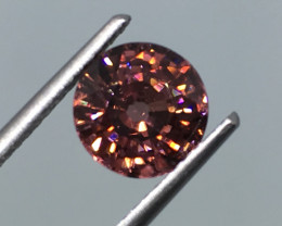 2.51 Carat VVS Zircon Cinnamon Red Unheated Stunning Flash Rare!